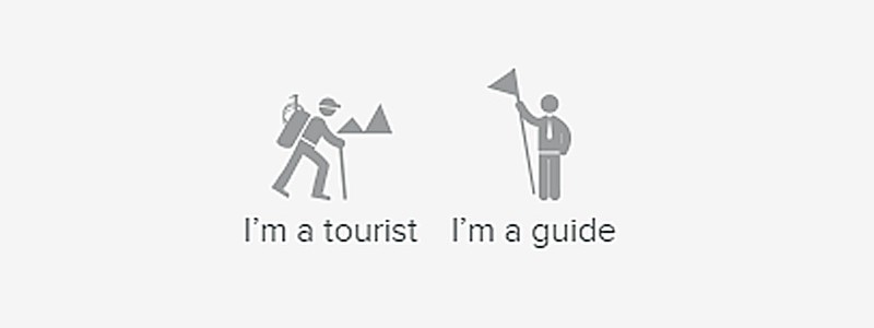 How a guide can create an account and add tours?