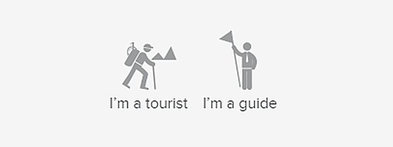 ¿Cómo puede una guía crear una cuenta y añadir rutas?