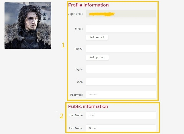 How to make a profile description